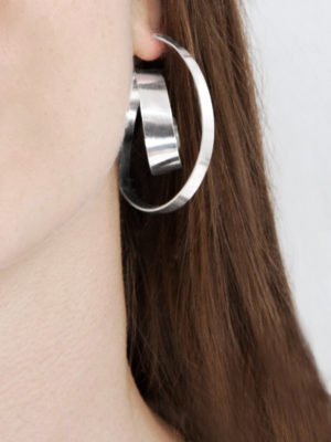 Large silver Montaigne Earrings