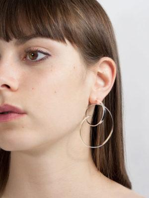 Isa earring silver