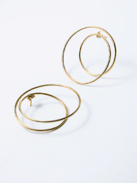 Twist earrings yellow vermeil
