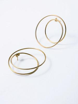 Twist earrings yellow vermeil