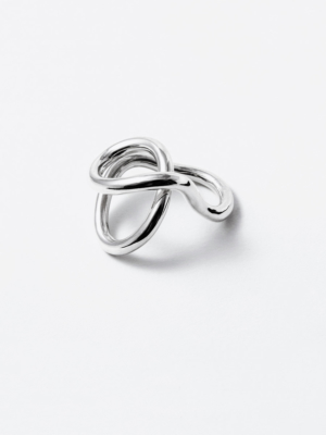 Flow ring silver