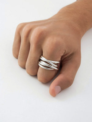 Chain R5 ring silver for men and women