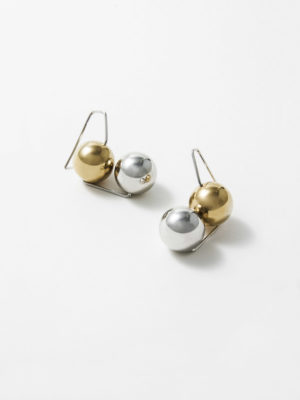 Olympe earring silver and yellow vermeil