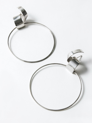 Lepic & Loop Large earrings silver
