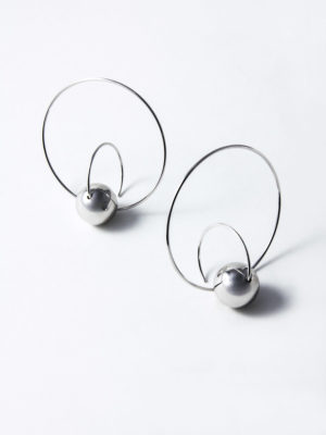 Satellite earrings silver