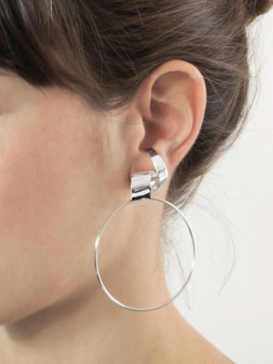Lepic & Loop Large earring silver