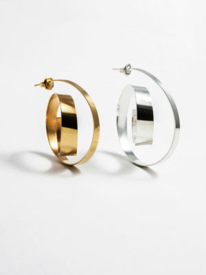 Montaigne earrings silver Large and vermeil Medium