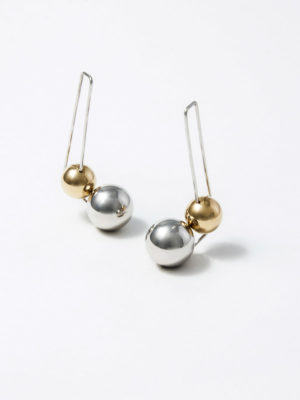 Olympe X-Long earrings silver and yellow vermeil