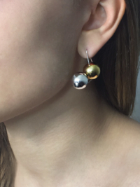 Olympe earring Medium silver and yellow vermeil