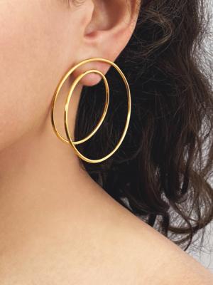 Twist earrings vermeil